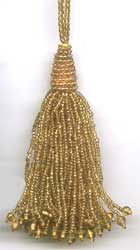 Beaded Tassel - Gold beaded tassels