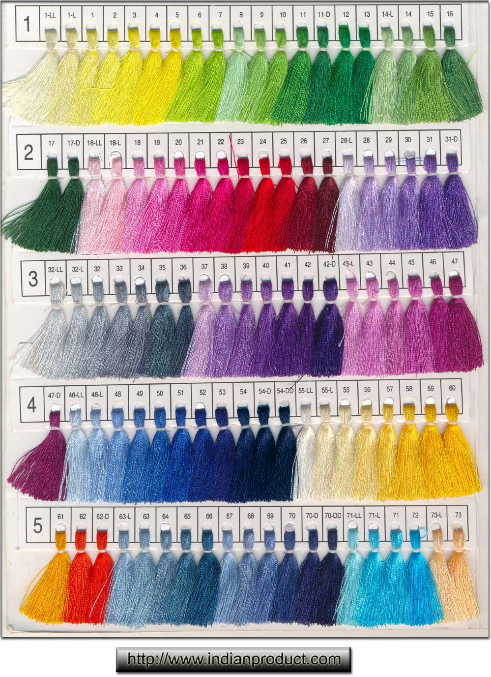 Color Chart Indianproduct